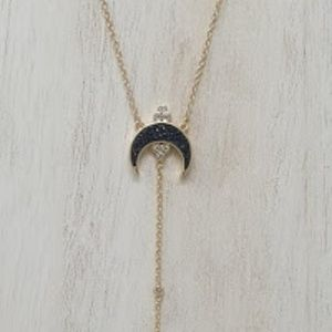 Elizabeth Stone Crescent Necklace